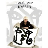 Pouf design naturel Flour Kyssen