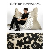 Pouf design naturel Sommarang